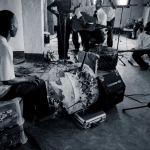 The Chinjowe Band about to record..